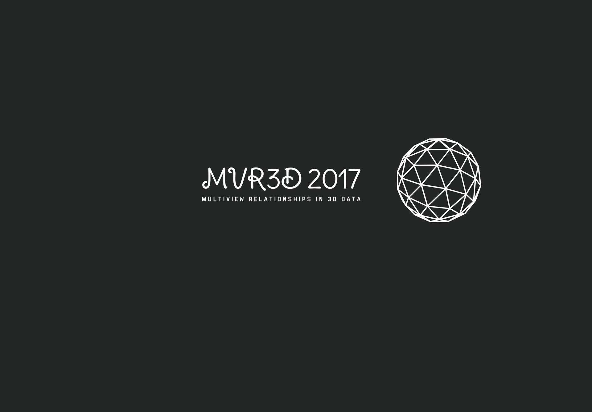 ICCV Workshop 2017 - MVR3D2017